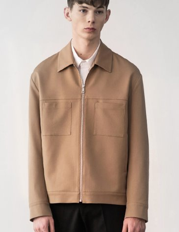 CREED SEMI-OVERFIT TRUCKER JACKET [BEIGE]