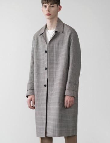 OVERSIZE BLENDED CHECK COAT