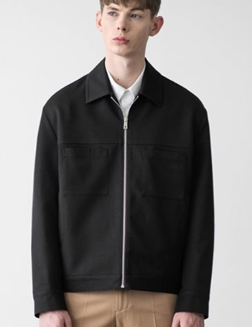 CREED SEMI-OVERFIT TRUCKER JACKET [BLACK]