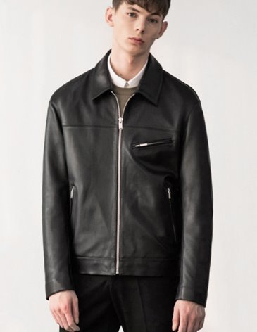 LAMBSKIN OFFICIAL LEATHER TRUCKER JACKET
