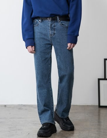 NEWTRO WIDE DENIM PANTS [L. BLUE]