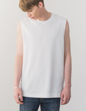 COOL MESH LAYERED SLEEVELESS [OFFWHITE]