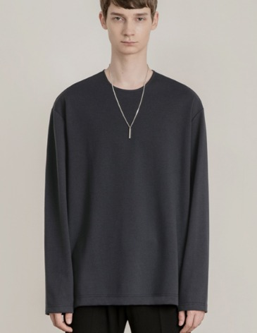 19F/W VENT LAYERED T-SHIRT [CHARCOAL]