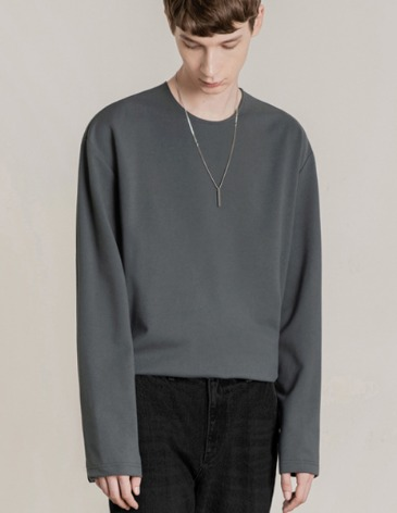 19F/W VENT LAYERED T-SHIRT [D.GREY]
