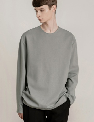 19F/W VENT LAYERED T-SHIRT [ASH GREY]