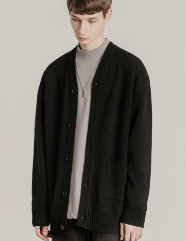 19F/W ESSENTIAL CARDIGAN [BLACK]
