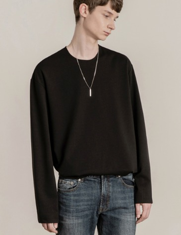 19F/W VENT LAYERED T-SHIRT [BLACK]