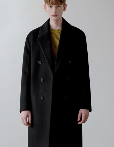 CASHMERE ROBE DOUBLE COAT [BLACK]