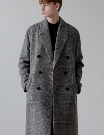 CHECK ROBE DOUBLE COAT [GLEN CHECK]