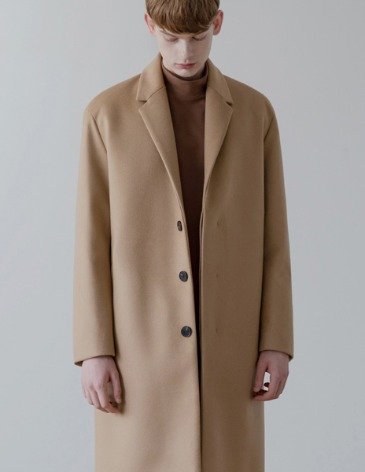 CASHMERE HIDDEN SINGLE COAT [BEIGE]