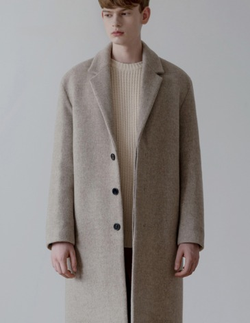 CASHMERE HIDDEN SINGLE COAT [OATMEAL]