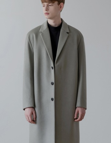 CASHMERE HIDDEN SINGLE COAT [L.GREY]