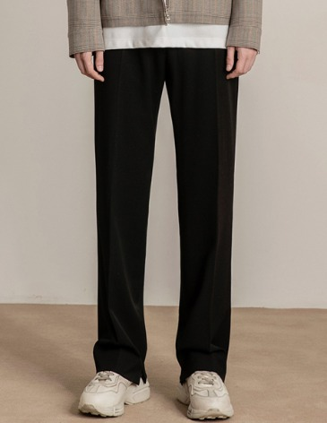 MODERNITY WIDE SLIT SLACKS [BLACK]