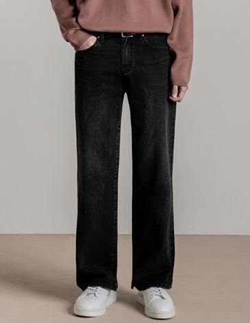 NEWTRO WIDE DENIM PANTS [BLACK]