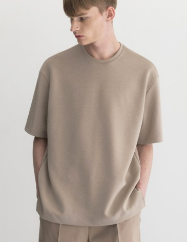 ESSENTIAL BASIC T-SHIRTS [MOCHA BEIGE]