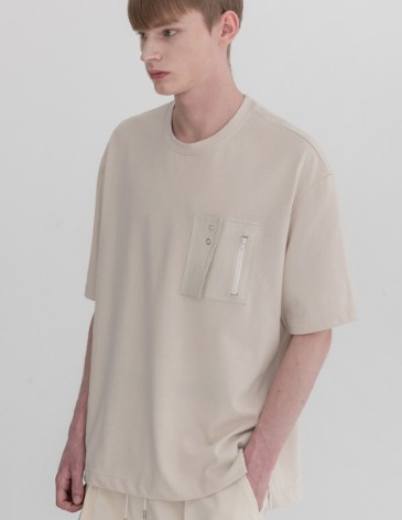 TECHNICAL POCKET PATCH T-SHIRTS [CREAM]