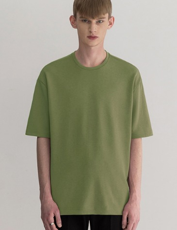 ESSENTIAL BASIC T-SHIRTS [AVOCADO]