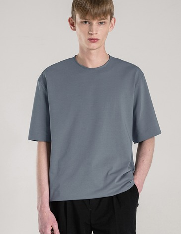 SILKET PIMA COTTON BONDED T-SHIRT [SKY BLUE]
