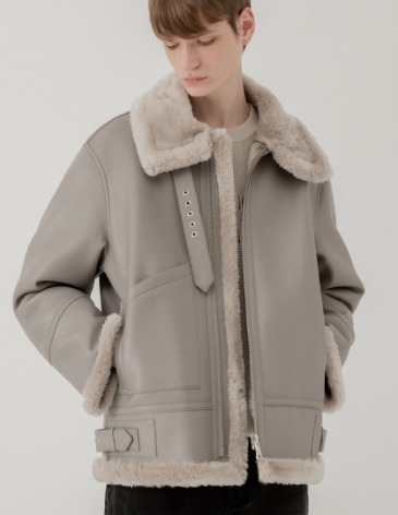 OVERSIZE MUSTANG JACKET [WARM GREY]