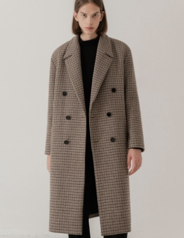 CHECK ROBE DOUBLE COAT [GUNCLUB CHECK]