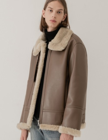 OVERSIZE MUSTANG JACKET [MOCHA BROWN]