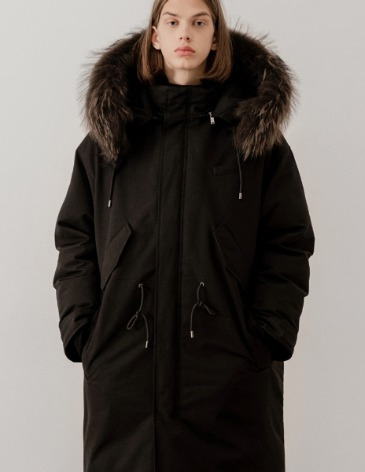OVERSIZE B-51 DOWN PARKA [BLACK]